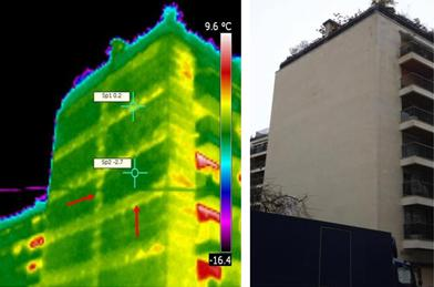 Thermographie infrarouge d'un bâtiment collectif à Paris