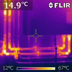 Thermographie infrarouge d'un plancher chauffant